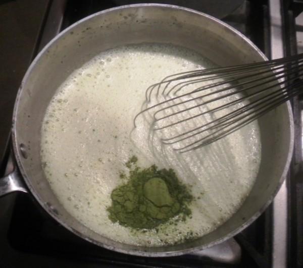 Matcha flavoured Cream