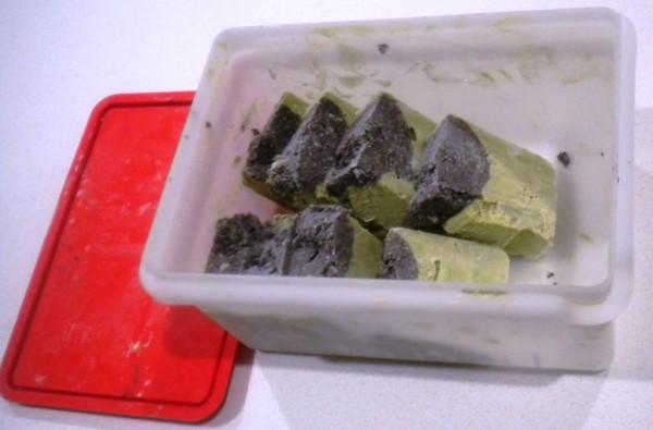 Matcha Ice Cream Portioned